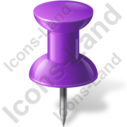 Map Marker Push Pin 1 Violet Icon, PNG/ICO, 256x256