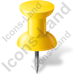 Map Marker Push Pin 1 Yellow Icon
