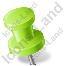 Map Marker Push Pin 2 Left Chartreuse Icon