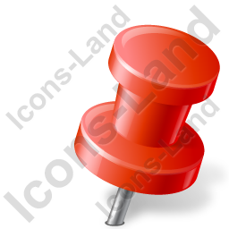 Map Marker Push Pin 2 Right Red Icon, PNG/ICO, 256x256