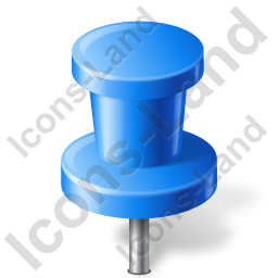 Map Marker Push Pin 2 Blue Icon