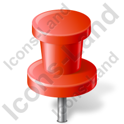 Map Marker Push Pin 2 Red Icon