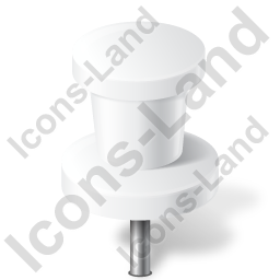 Map Marker Push Pin 2 White Icon, PNG/ICO, 256x256