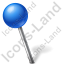 Map Marker Ball Left Blue Icon, PNG/ICO, 64x64