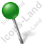 Map Marker Ball Left Green Icon, PNG/ICO, 64x64