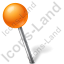Map Marker Ball Left Orange Icon, PNG/ICO, 64x64
