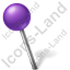 Map Marker Ball Left Violet Icon, PNG/ICO, 64x64