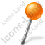 Map Marker Ball Right Orange Icon, PNG/ICO, 64x64