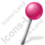 Map Marker Ball Right Pink Icon, PNG/ICO, 64x64