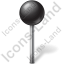 Map Marker Ball Black Icon