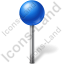 Map Marker Ball Blue Icon