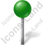 Map Marker Ball Green Icon