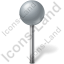Map Marker Ball Grey Icon, PNG/ICO, 64x64