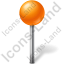 Map Marker Ball Orange Icon, PNG/ICO, 64x64