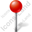 Map Marker Ball Red Icon