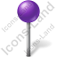 Map Marker Ball Violet Icon