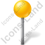 Map Marker Ball Yellow Icon, PNG/ICO, 64x64