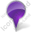 Map Marker Bubble Violet Icon