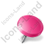 Map Marker Drawing Pin Right Pink Icon
