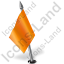 Map Marker Flag 2 Left Orange Icon, PNG/ICO, 64x64
