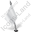 Map Marker Flag 2 Left White Icon, PNG/ICO, 64x64