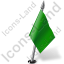 Map Marker Flag 2 Right Green Icon, PNG/ICO, 64x64