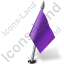 Map Marker Flag 2 Right Violet Icon