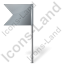 Map Marker Flag 4 Left Grey Icon, PNG/ICO, 64x64