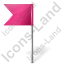 Map Marker Flag 4 Left Icon