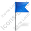 Map Marker Flag 4 Right Blue Icon, PNG/ICO, 64x64