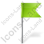 Map Marker Flag 4 Right Chartreuse Icon, PNG/ICO, 64x64