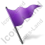 Map Marker Flag 5 Violet Icon, PNG/ICO, 64x64
