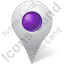 Map Marker Marker Inside Violet Icon, PNG/ICO, 64x64