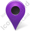Map Marker Marker Outside Violet Icon