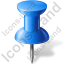 Map Marker Push Pin 1 Blue Icon