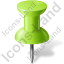 Map Marker Push Pin 1 Chartreuse Icon