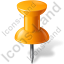 Map Marker Push Pin 1 Orange Icon, PNG/ICO, 64x64