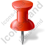 Map Marker Push Pin 1 Red Icon, PNG/ICO, 64x64