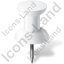 Map Marker Push Pin 1 White Icon