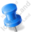 Map Marker Push Pin 2 Left Blue Icon, PNG/ICO, 64x64