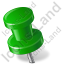 Map Marker Push Pin 2 Left Green Icon, PNG/ICO, 64x64