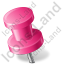 Map Marker Push Pin 2 Left Pink Icon, PNG/ICO, 64x64