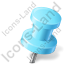 Map Marker Push Pin 2 Right Azure Icon