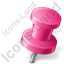 Map Marker Push Pin 2 Right Pink Icon, PNG/ICO, 64x64