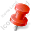 Map Marker Push Pin 2 Right Red Icon, PNG/ICO, 64x64