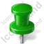 Map Marker Push Pin 2 Green Icon
