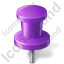 Map Marker Push Pin 2 Violet Icon