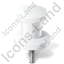 Map Marker Push Pin 2 White Icon, PNG/ICO, 64x64
