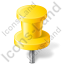 Map Marker Push Pin 2 Yellow Icon