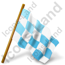 Map Marker Chequered Flag Right Icon, AI,